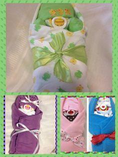 Swaddled Diaper Baby, Sleeping Swaddled Baby, Shower Centerpiece on Etsy, $26.95