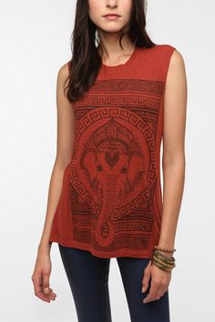 Title Unknown Ancient Majestic Muscle Tee  $29.00, Urban Outfitters