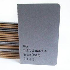 Perfect little gift for everyone!  Notebooks available from www.alfamarama.etsy.com   #bucketlist #adventure #goals #wishes #desires #thingstodobeforeyoudie #grey #notebook #moleskine #stationery #caderno #cuaderno #cahier #notizbuch #gift #instacool  #mustbuy #stockingfiller #secretsanta
