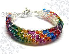 Swarovski bracelet Hot Rainbow Swarovski Crystal by candybead