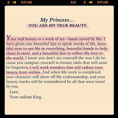 You are God's true beauty.