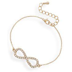 "7"" + 1"" Gold Tone Crystal Infinity Fashion Bracelet Suzy B. Accessories http://www.amazon.com/dp/B013R5STVG/ref=cm_sw_r_pi_dp_ExIYvb17740HB"