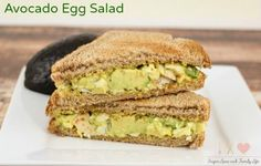 Avocado Egg Salad is a yummy twist on classic egg salad. Avocado lovers will love this easy egg salad recipe for lunch. - Avocado Egg Salad Recipe on Sugar, Spice and Family Life