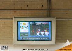 Graceland Memphis TN - ViewStation Universal Digital Signage, ViewStation by ITSENCLOSURES #ViewStation