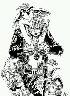 Tank Girl & Booga Illustration