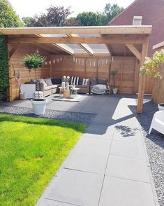 Pergola Designs Ideas And Plans For Small Backyard & Patio - You've likely knew of a trellis or gazebo, but the one concept that defeat simple definition is the pergola. Small Yard Landscaping, Cheap Landscaping Ideas, Backyard Garden Landscape, Backyard Patio Designs, Backyard Pergola, Pergola Designs, Pergola Plans, Backyard Pools, House Landscape