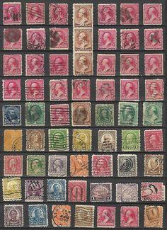 US Valuable lot of 63 Def. # 220 -2¢ Washington, # 210 -2¢ Washington strip