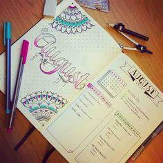Hello #August and my first #mandala designs. Pretty darn proud of them! Tag me in your mandala! #bulletjournal #august #monthlylog #bulletjournaljunkies