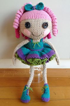 FaerySarah: Latest Amigurumi ~ Full Size Lalaloopsy Doll