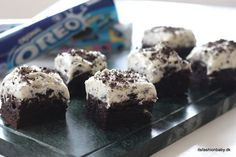 God opskrift på tripple Oreo brownie (It's Fashion, Baby! Oreo Brownies, Oreo Cake, Oreo Dessert, Cake Recipes, Frosting, Muffin, Snacks, Baking, Breakfast