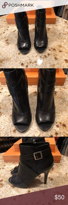 d8a3f4b1907e Shop Women s Vince Camuto Black size Ankle Boots   Booties at a discounted  price at Poshmark. Description  Vince camuto Black peep toe booties (new)  heel.