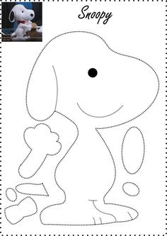 Bildergebnis für snoopy feltro passo a passo Felt Crafts Patterns, Applique Patterns, Fabric Crafts, Sewing Patterns, Sewing Toys, Sewing Crafts, Sewing Projects, Craft Projects, Felt Christmas Ornaments