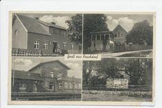 Puschdorf Kr. Insterburg, Kolonialwarenhandlung, Kirche, Heldendenkmal