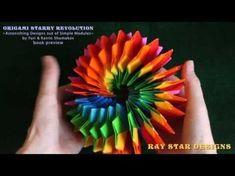 Super origami star - bright rotating star out of paper (Origami Swirl Star Torus by Yuri Shumakov) - YouTube