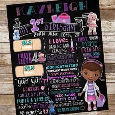 Doc McStuffins Birthday Poster by EmiJaiDesigns on Etsy