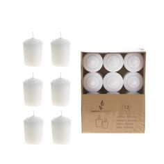 Mega Candles - Unscented 15 Hours Votive Candles - White, Set of 12 * Want additional info? Click on the image.