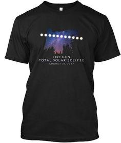 Oregon Total Solar Eclipse 2017 T Shirt  Black áo T-Shirt Front