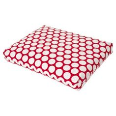 Check out this item at One Kings Lane! Dotted Dog Bed, Red, $59