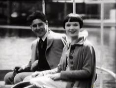 Louise Brooks with her first husband A. Louise Brooks, Roaring Twenties, The Twenties, Silent Film, Time Capsule, 20 June, Husband, I Don't Care
