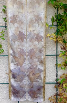 Eco Print Silk Scarf / Natural Dyes / Botanical Print