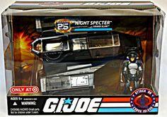 G.I. Joe Cobra 25th Vehicle/Figure Set | Night Specter/Grand Slam | 1984 ARAH S.H.A.R.C. Jet MISB