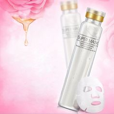 Hyaluronic Acid Hydrolyzed Collagen Facial Mask Rose Essence Nutrient Moisturizing Smooth at Banggood
