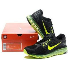 Cheap nike air max 2013 for mens shoes green black 1 size 40 45