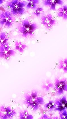Sparkly flowers