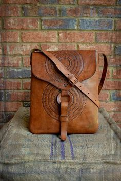 Handmade Leather Bag from Guatemala