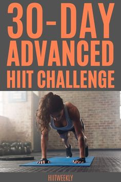 A 30 day home HIIT challenge to get you fit in a month. 4 Week Workout Plan, Hiit Workout Routine, Hiit Workout At Home, Weekly Workout Plans, Squat Workout, 30 Day Workout Challenge, Hiit Workouts With Weights, Circuit Training Workouts, Hiit Workouts For Beginners
