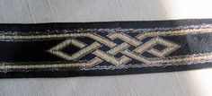 Celtic Dragon Knot Jacquard ribbon trim SILVER and by TrimKo