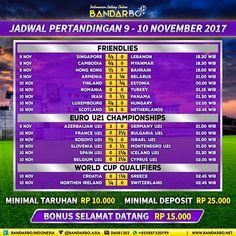 bandarbo.net Jadwal Pertandingan Sepakbola 9 - 10 November 2017… #Bandarbo.me #DaftarBandarbo #TaruhanBola #BandarTaruhan #DepositBandarbo