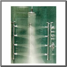 Attractive View The Grohe GSS Eurocube CTH 08 Eurocube Thermostatic Shower System With  Multi Function Shower Head, Handshower, Slide Bar, Bodysprays, And Voluu2026