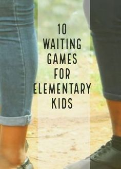 10 waiting games for kids. These games get kids engaged and helps manage behaviors while waiting. Use these waiting games in the classroom, at after school programs, in youth groups, and during summer camps!