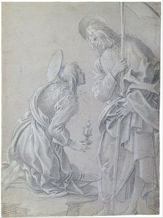 Filippino Lippi - Kneeling Saint Mary Magdalene and Standing Christ - Google Art Project (The Morgan Library & Museum)