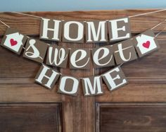home sweet home banner – Etsy