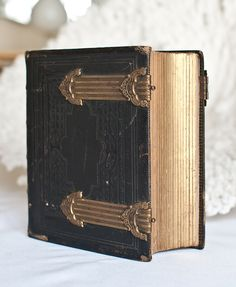 Victorian leather photo album from an old San Francisco Bay Area estate.
