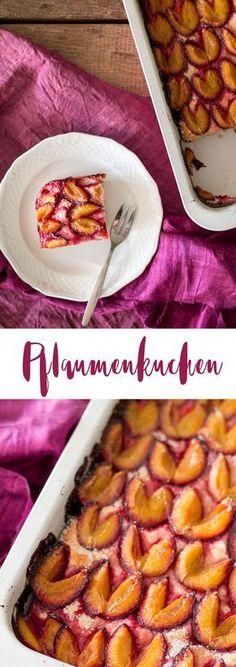 Pflaumenkuchen mit Quark Öl Teig vom Blech - einfaches Rezept #schnellesrezept #pflaumen