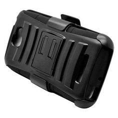 Black Armor Holster Cover Belt Clip for Alcatel One Touch Fierce 2 Pop Icon  #UnbrandedGeneric