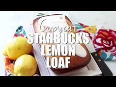I think this is even better than the Starbuck's lemon loaf! So moist and full of lemon flavor and a simple glaze on top makes this absolutely scrumptious! No Cook Desserts, Lemon Desserts, Delicious Desserts, Dessert Recipes, Yummy Food, Cake Recipes, Starbucks Lemon Loaf, Starbucks Recipes, Lemon Dream Cake