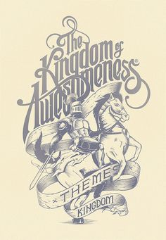 The Kingdom of Awesomeness Typography.