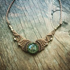 macrame necklace handemade madebyorder brass beads necklace
