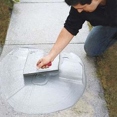 Learn how to resurface worn concrete with this step-by-step guide from This Old House. DIY concrete refinishing is fairly simple and results in a durable surface. Concrete Steps, Concrete Driveways, Diy Concrete, Cement, Stain Concrete, Concrete Resurfacing, Concrete Porch, Concrete Table, Concrete Projects