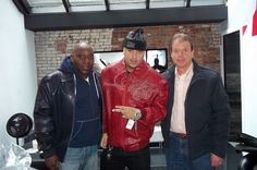 French Montana hangin at the Pelle Pelle New York City Office