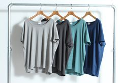 SUNSPEL - short sleeve T-shirt | RECOMMEND | Bshop inc.(ビショップ) <LADIES> oversize short sleeve T-shirt price: ¥8,000+tax color: WHITE, BLACK, NAVYBLUE, ASHGREY, SMOKEGREY, THYME, BLUEBERRY(全7色展開)