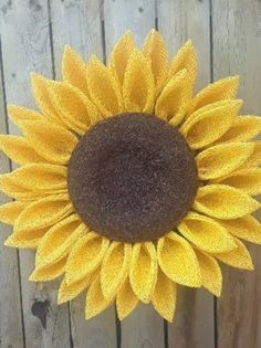Yellow Sunflower Wreath Large