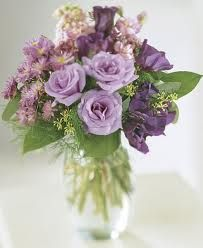 mauve flowers in vase - Google Search