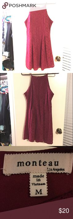 Maroon Strappy Dress Cute Neckline Maroon dress I bought for engagement photos and only wore once!! Super cute and great for anything from a date night, work, or a picnic! Very diverse piece. Size medium, probably best fits size 4/6 Dresses