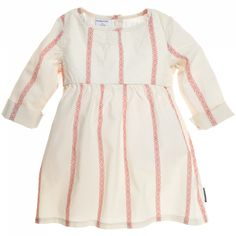 FOLKLORE STRIPE DRESS (CHILD) by Polarn O Pyret, size 3-4