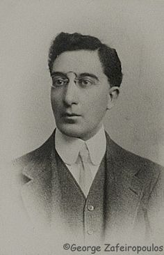 Constantine P. Cavafy was a Greek poet, journalist and civil servant./Πορτρέτο του Κ. Καβάφη στο σπίτι του.